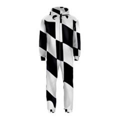 Flag Chess Corse Race Auto Road Hooded Jumpsuit (kids)