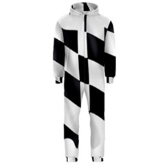 Flag Chess Corse Race Auto Road Hooded Jumpsuit (men)