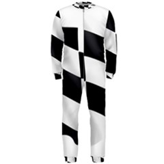 Flag Chess Corse Race Auto Road Onepiece Jumpsuit (men)