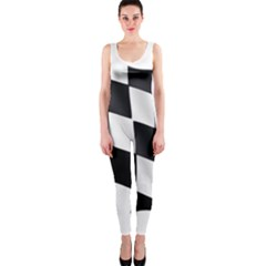 Flag Chess Corse Race Auto Road Onepiece Catsuit
