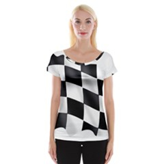 Flag Chess Corse Race Auto Road Women s Cap Sleeve Top