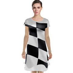 Flag Chess Corse Race Auto Road Cap Sleeve Nightdress
