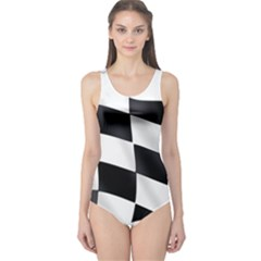 Flag Chess Corse Race Auto Road One Piece Swimsuit