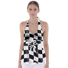 Flag Chess Corse Race Auto Road Babydoll Tankini Top