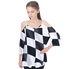 Flag Chess Corse Race Auto Road Flutter Tees