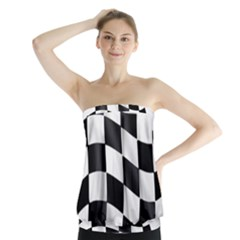 Flag Chess Corse Race Auto Road Strapless Top