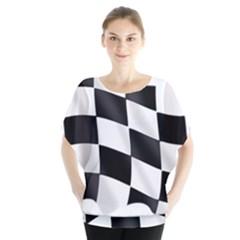 Flag Chess Corse Race Auto Road Blouse