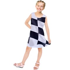 Flag Chess Corse Race Auto Road Kids  Tunic Dress