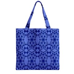 Floral Ornament Baby Boy Design Grocery Tote Bag