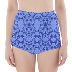Floral Ornament Baby Boy Design High Waisted Bikini Bottoms