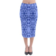 Floral Ornament Baby Boy Design Midi Pencil Skirt