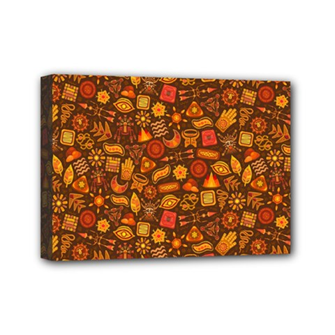 Pattern Background Ethnic Tribal Mini Canvas 7  x 5