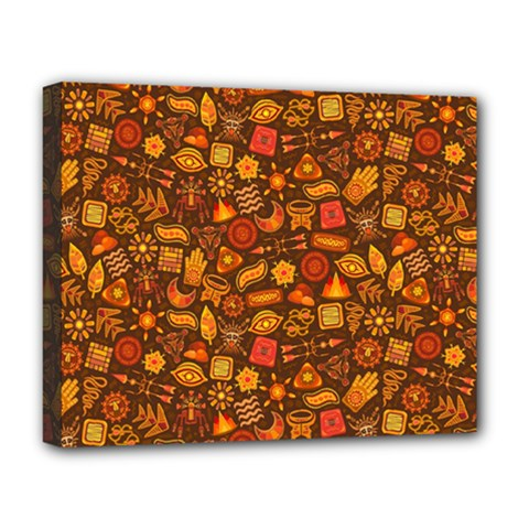 Pattern Background Ethnic Tribal Deluxe Canvas 20  x 16