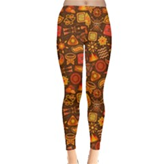 Pattern Background Ethnic Tribal Leggings