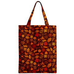 Pattern Background Ethnic Tribal Zipper Classic Tote Bag