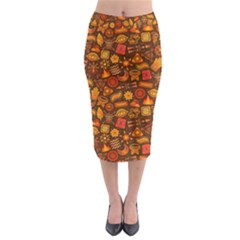 Pattern Background Ethnic Tribal Midi Pencil Skirt