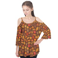 Pattern Background Ethnic Tribal Flutter Tees