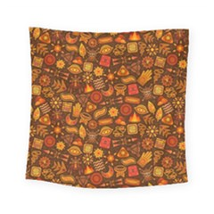 Pattern Background Ethnic Tribal Square Tapestry (small)