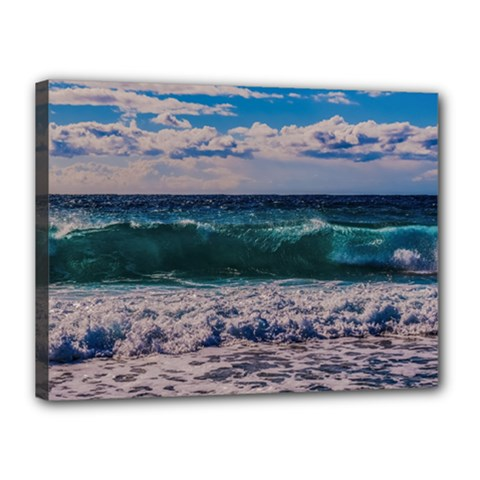 Wave Foam Spray Sea Water Nature Canvas 16  X 12