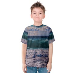 Wave Foam Spray Sea Water Nature Kids  Cotton Tee