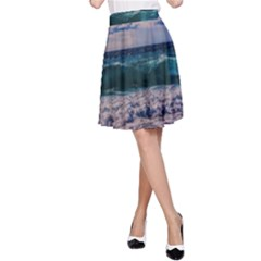 Wave Foam Spray Sea Water Nature A Line Skirt