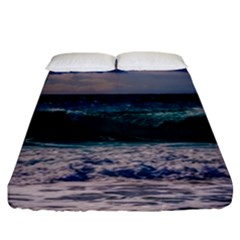 Wave Foam Spray Sea Water Nature Fitted Sheet (king Size)