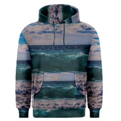 Wave Foam Spray Sea Water Nature Men s Pullover Hoodie