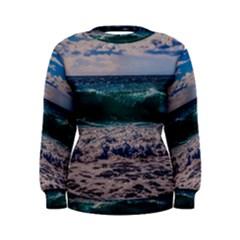 Wave Foam Spray Sea Water Nature Women s Sweatshirt
