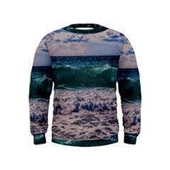 Wave Foam Spray Sea Water Nature Kids  Sweatshirt