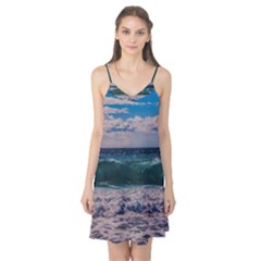 Wave Foam Spray Sea Water Nature Camis Nightgown