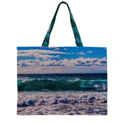 Wave Foam Spray Sea Water Nature Large Tote Bag