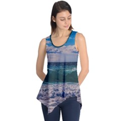 Wave Foam Spray Sea Water Nature Sleeveless Tunic