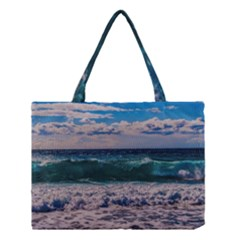 Wave Foam Spray Sea Water Nature Medium Tote Bag