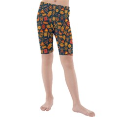 Pattern Background Ethnic Tribal Kids  Mid Length Swim Shorts