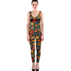 Pattern Background Ethnic Tribal Onepiece Catsuit