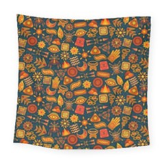 Pattern Background Ethnic Tribal Square Tapestry (large)