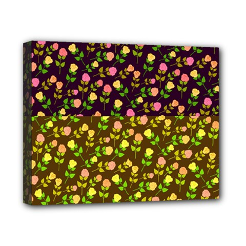Flowers Roses Floral Flowery Canvas 10  x 8