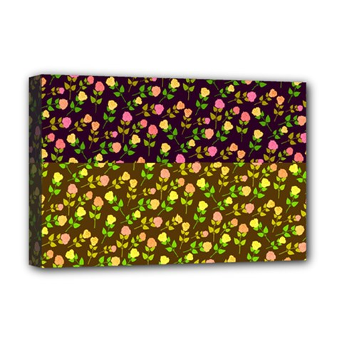 Flowers Roses Floral Flowery Deluxe Canvas 18  X 12