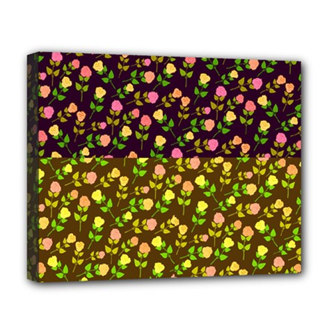 Flowers Roses Floral Flowery Deluxe Canvas 20  X 16