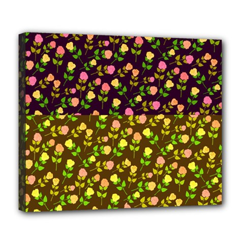 Flowers Roses Floral Flowery Deluxe Canvas 24  X 20