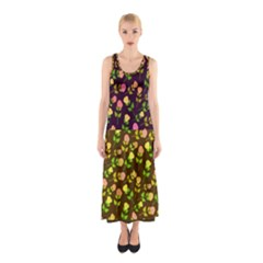 Flowers Roses Floral Flowery Sleeveless Maxi Dress