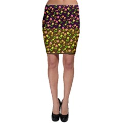 Flowers Roses Floral Flowery Bodycon Skirt