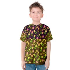 Flowers Roses Floral Flowery Kids  Cotton Tee