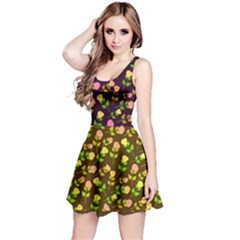 Flowers Roses Floral Flowery Reversible Sleeveless Dress