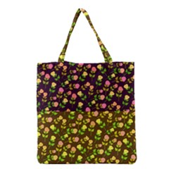 Flowers Roses Floral Flowery Grocery Tote Bag