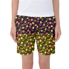 Flowers Roses Floral Flowery Women s Basketball Shorts