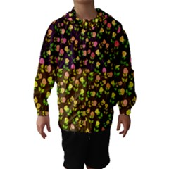 Flowers Roses Floral Flowery Hooded Wind Breaker (Kids)