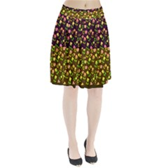 Flowers Roses Floral Flowery Pleated Skirt