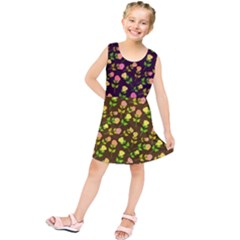 Flowers Roses Floral Flowery Kids  Tunic Dress