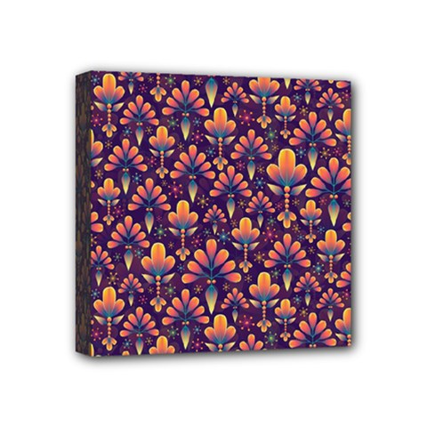 Abstract Background Floral Pattern Mini Canvas 4  x 4